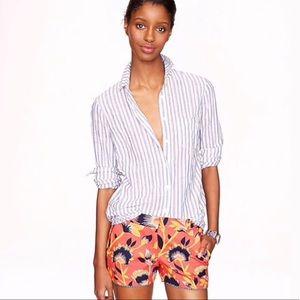 J. Crew Hibiscus Floral Shorts
